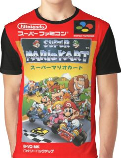 Super Mario Kart Nintendo Super Famicom Japanese Box Art Shirt (SNES) Graphic T-Shirt