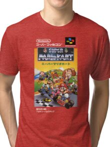 Super Mario Kart Nintendo Super Famicom Japanese Box Art Shirt (SNES) Tri-blend T-Shirt
