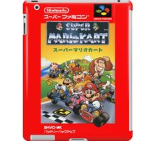 Super Mario Kart Nintendo Super Famicom Japanese Box Art Shirt (SNES) iPad Case/Skin