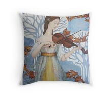 The Lady & the Violin, 2011-13 Throw Pillow