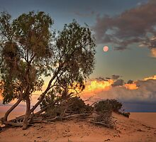 Lake Mungo Sunset by Hans Kawitzki