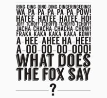 What Does the Fox Say?  by Sam Matthews