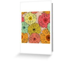 Colorful vintage abstract sunflower Greeting Card