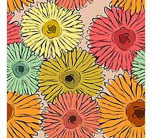 Colorful vintage abstract sunflower Photographic Print