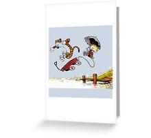 Calvin And Hobbes Greeting Card