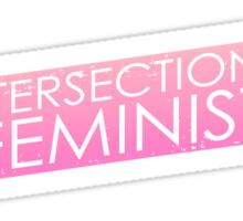 Intersectional Feminist - Pink Sticker