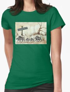 Warthogs Crossing Womens Fitted T-Shirt