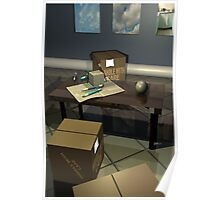 Office Cubes and Spheres Poster