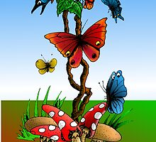 Butterfly Garden by Peter Grayson