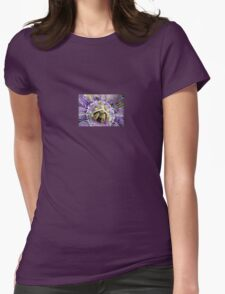 Purple Passion Flower Close Up Womens Fitted T-Shirt