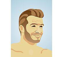 David Beckham - football star Photographic Print