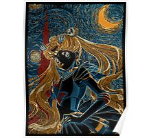 Usagi and the Starry Night Poster