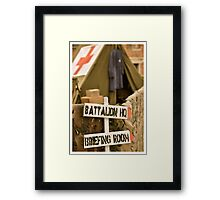 US camp WW2 Framed Print