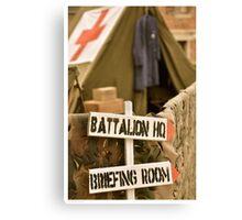 US camp WW2 Canvas Print