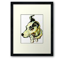 Jumpin' Jack Russell Graphic~ Full color Framed Print