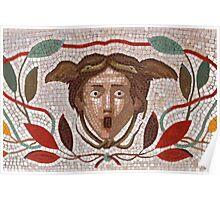 Roman Snake Surprise Mosaic Poster