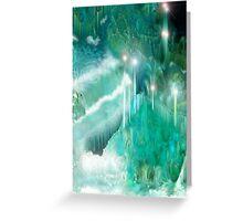 Waterfalls through Crystal Mountain Labyrinth Greeting Card