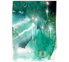Waterfalls through Crystal Mountain Labyrinth Poster