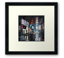 Nights on Broadway Framed Print