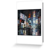 Nights on Broadway Greeting Card