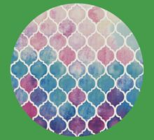 Rainbow Pastel Watercolor Moroccan Pattern Baby Tee