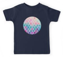 Rainbow Pastel Watercolor Moroccan Pattern Kids Tee
