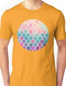 Rainbow Pastel Watercolor Moroccan Pattern Unisex T-Shirt
