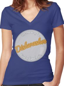 Dishwasher girls Women's Fitted V-Neck T-Shirt