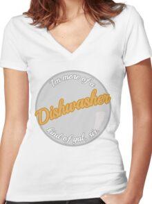 Dishwasher girls Women's Fitted V-Neck T-Shirt