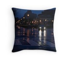 After A Late Night Rain Throw Pillow