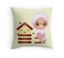 Cute Queen Bee Throw Pillow
