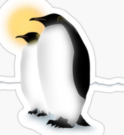 Emperor Penguins Sticker