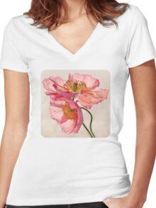 Like Light through Silk Women's Fitted V-Neck T-Shirt