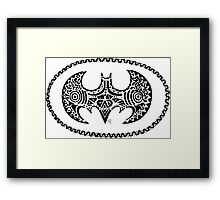 Batman tribal Framed Print