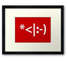 Christmas Elf Emoticon Framed Print