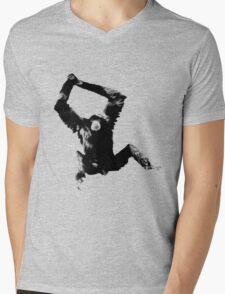 Siamang Gibbon. Wildlife Digital Engraving Image Mens V-Neck T-Shirt
