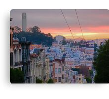 Telegraph Hill and Beyond Canvas Print
