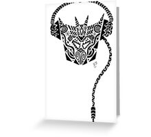 Decepticon Dj Tribal Greeting Card