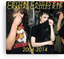 Rip Crystal Castles Canvas Print