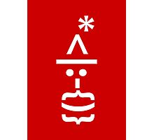Santa with Beard Smiley Emoticon Photographic Print