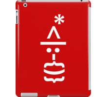 Santa with Beard Smiley Emoticon iPad Case/Skin