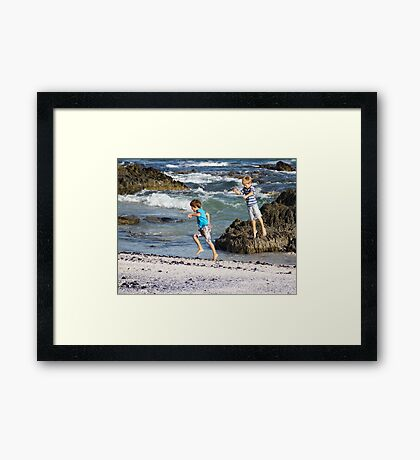 Boys just want to have fun. Framed Print