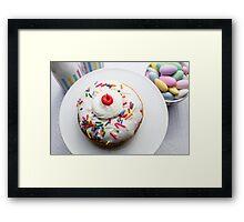 Happy Birthday Donut Framed Print