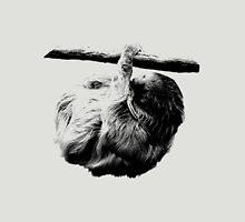 Sluggish Sloth. Digital Wildlife Engraving Image Unisex T-Shirt