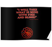 Game of Thrones - House Targaryen - Daenerys Poster