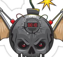 Flying Skull Bomb Sticker