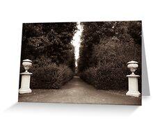 baroque garden promenade Greeting Card