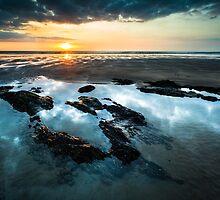 Sunset Rocks by Heidi Stewart