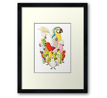 Parrot Party Framed Print