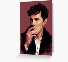 Benedict Cumberbatch digital portrait Greeting Card